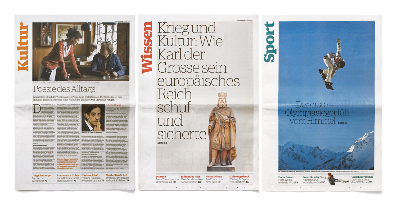 Jon Kielty — NZZ am Sonntag newspaper design