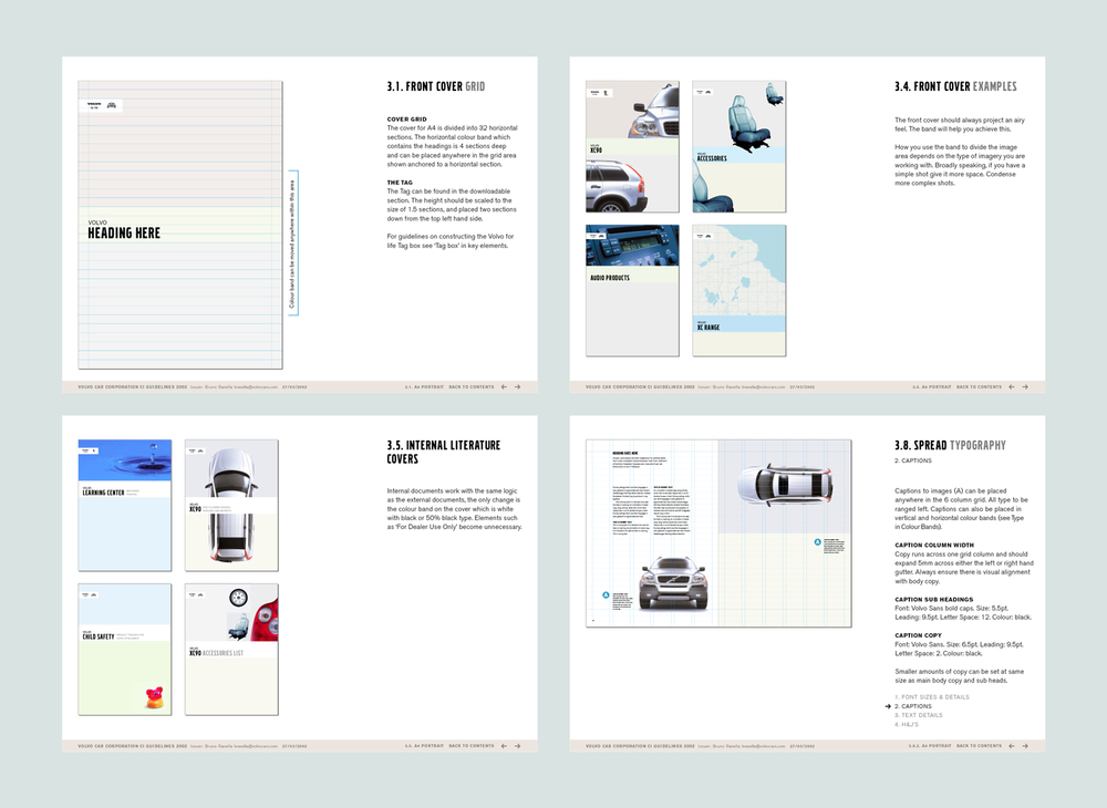 Volvo global literature guidelines