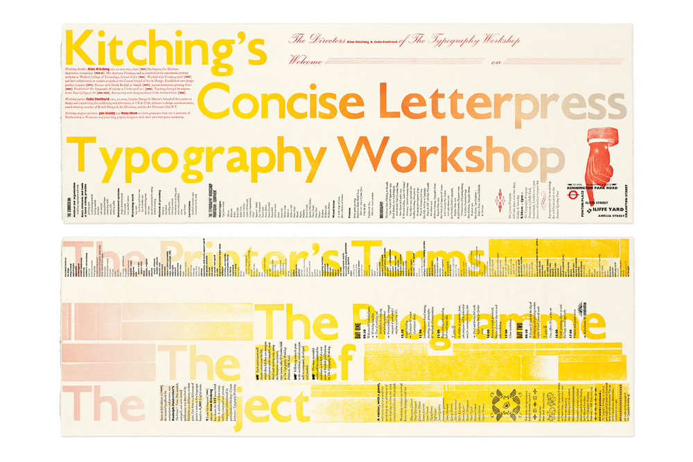Kitching's Concise letterpress typography workshop prospectus