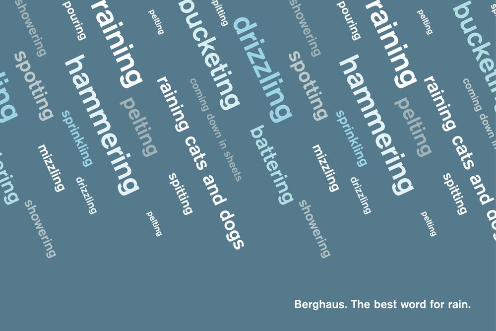 Berghaus rain campaign