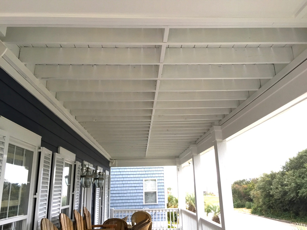 ENTIRE DECK REPAINT — BEAM & JOISTS, COLUMNS, RAILING & SPINDLES