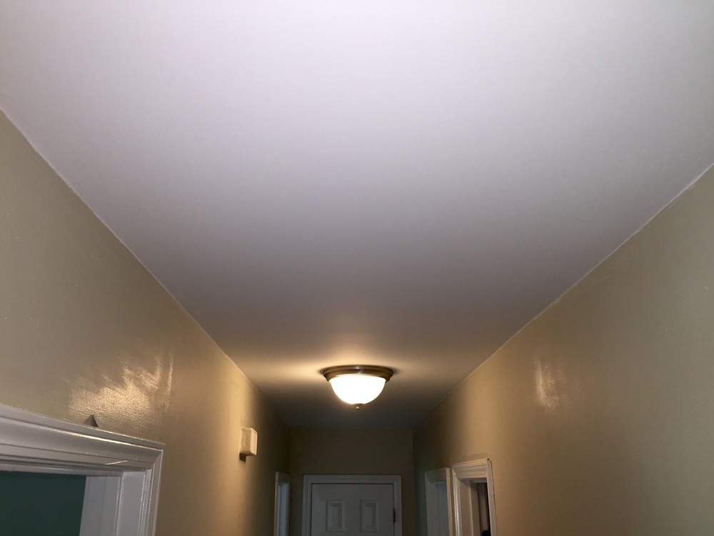 CEILINGS — POPCORN REMOVAL, PRIME & PAINT