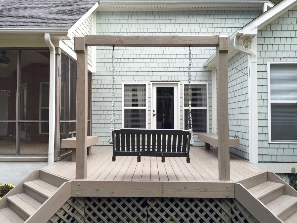 DECK & PATIO—COMPLETELY SANDED & STAINED