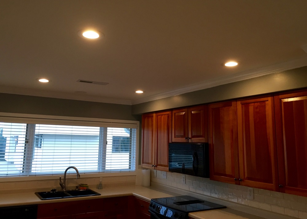 CEILINGS — WATER DAMAGE REPAIR & PAINT / LED RECESSED LIGHTING INSTALLED
