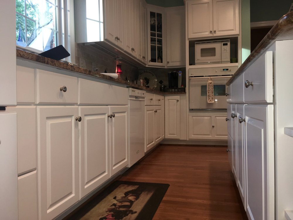 KITCHEN CABINET REPAINT, BENJAMIN MOORE ADVANCE SATIN FINISH