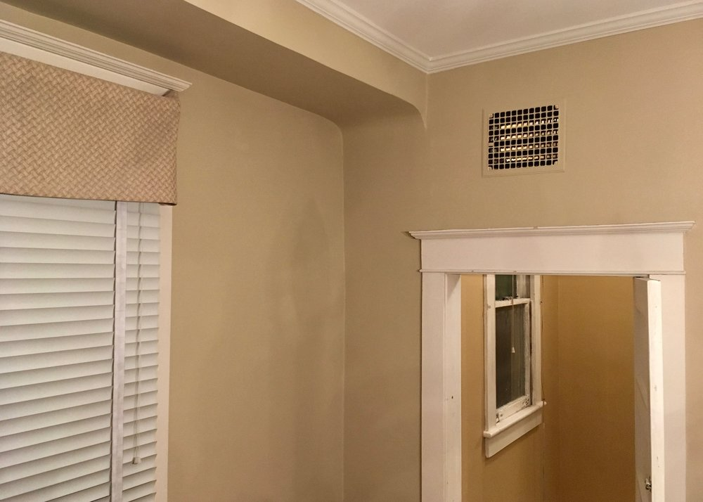 HISTORIC CRAFTSMAN: CEILING, CROWN, WALLS, REPAIR & PAINT  see 'Before & After'