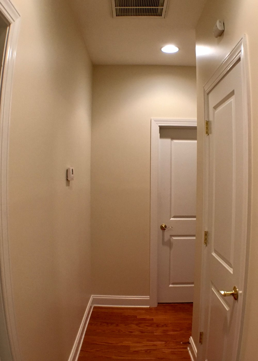 ENTIRE INTERIOR REPAINT: SAND WALLS SMOOTH, BENJAMIN MOORE NATURA EGGSHELL