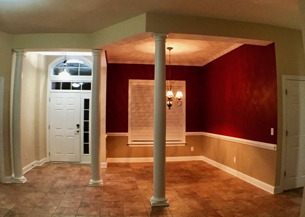 ENTIRE INTERIOR REPAINT:  WALLS / BENJAMIN MOORE REGAL SELECT EGGSHELL, ROLLED