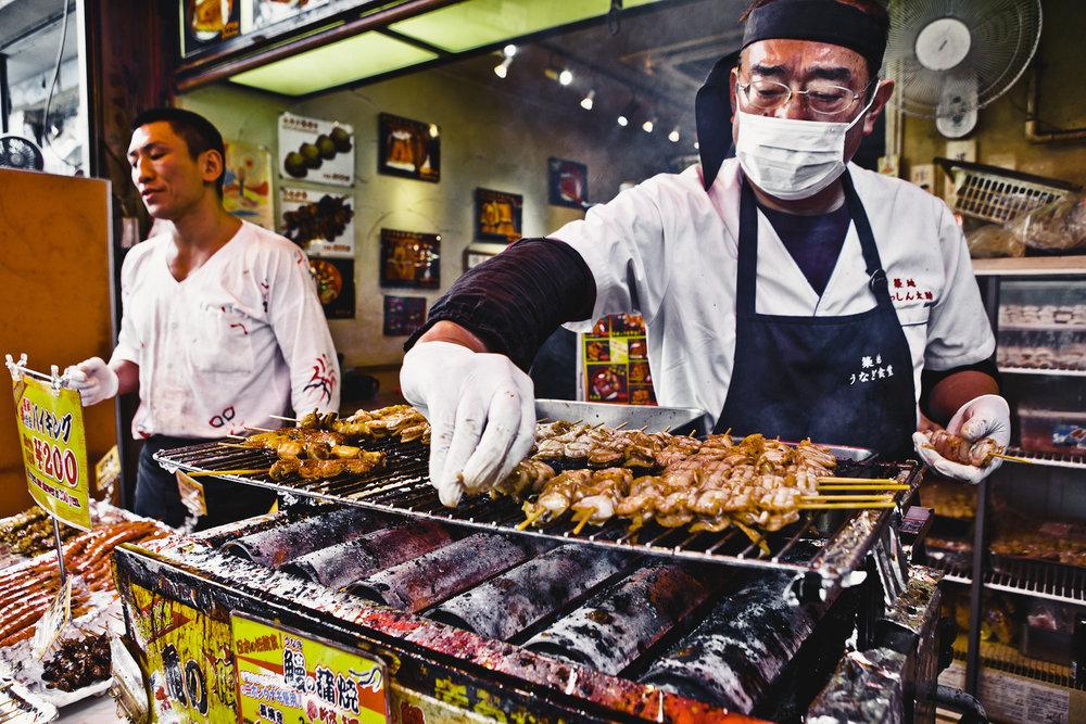 Street food in Tokyo