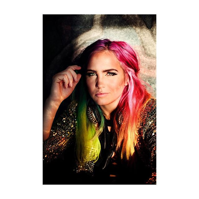 Covershoot with Linnea Claeson at Stadshuset for Shortcut Magazine. #portrait #rainbowhair #boss