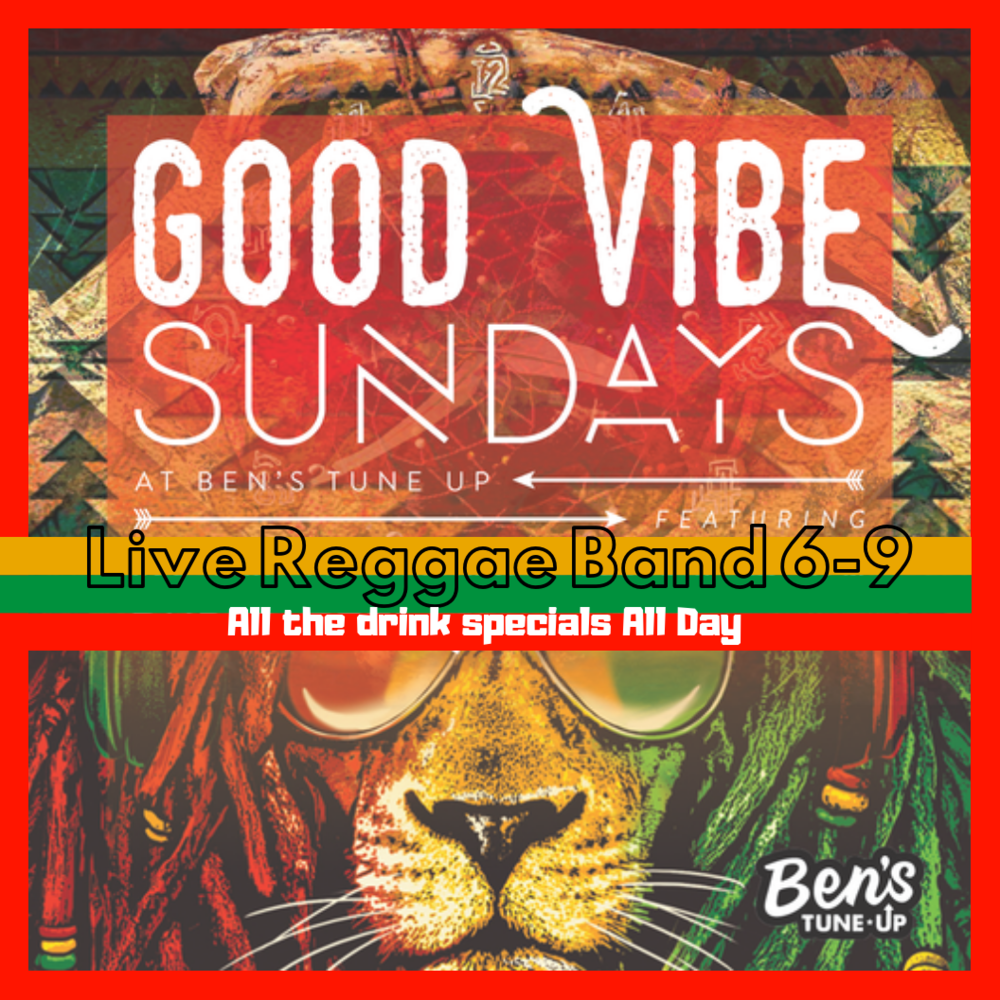 Come see why Sunday is locals favorite day of the week! Going three years strong with Reggae all day, all the drink specials and nothing but good Vibes!