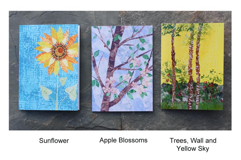 Sunflower, Apple Blossoms, Trees Cards.jpg