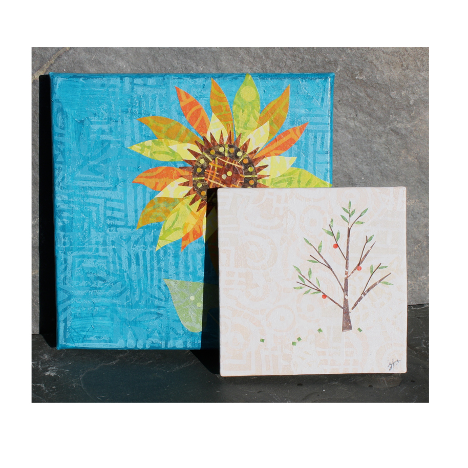 sunflower and tree canvases.jpg