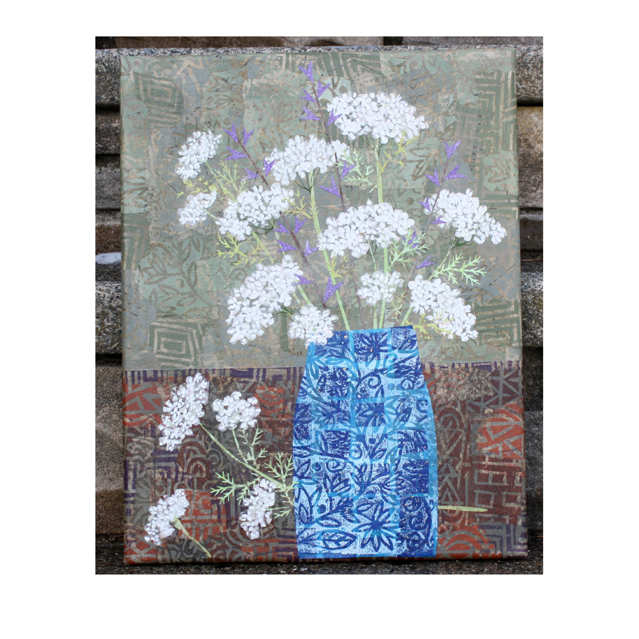 Queen Anne's Lace in Blue Vase.jpg