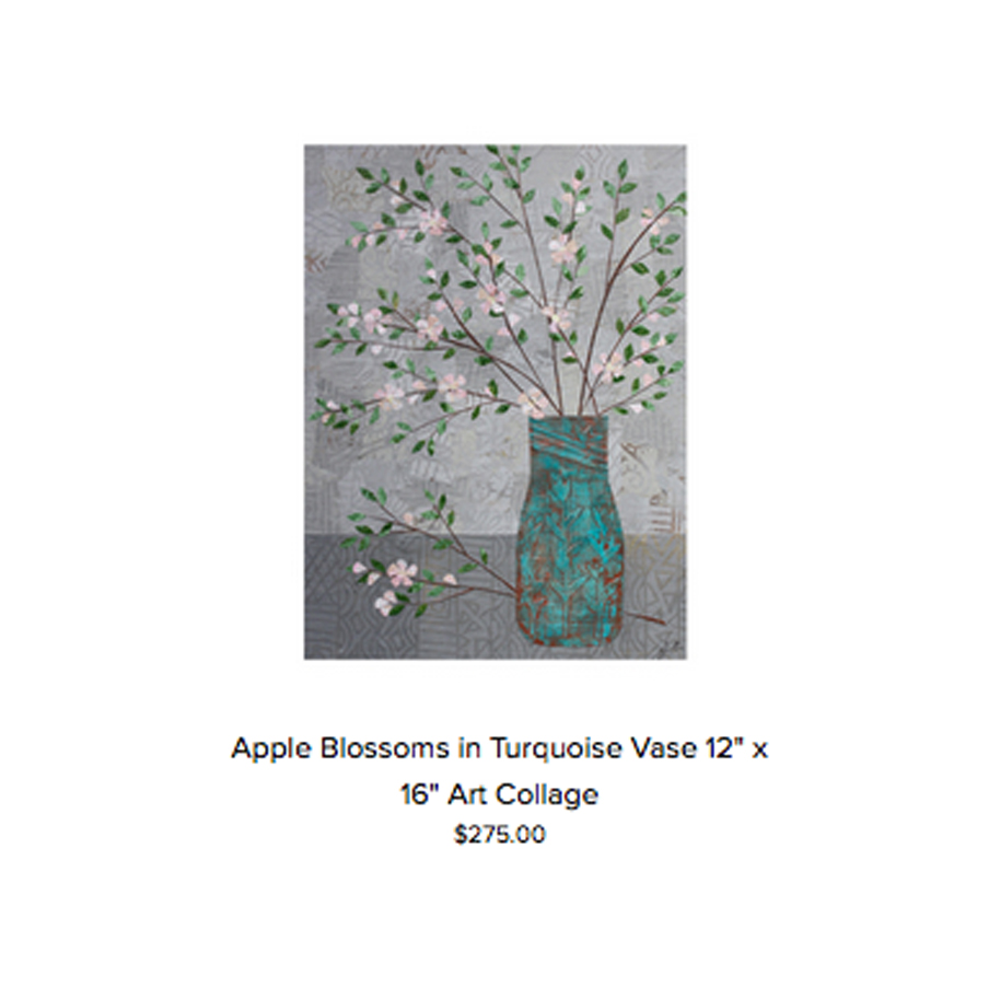 Apple Blossoms in Turquoise Vase Original.jpg