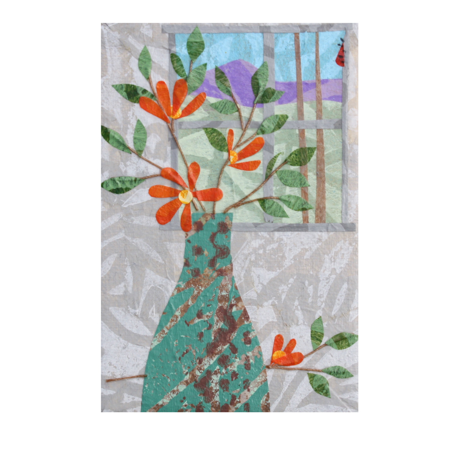 Orange Blooms Refrigerator Art Collage.jpg