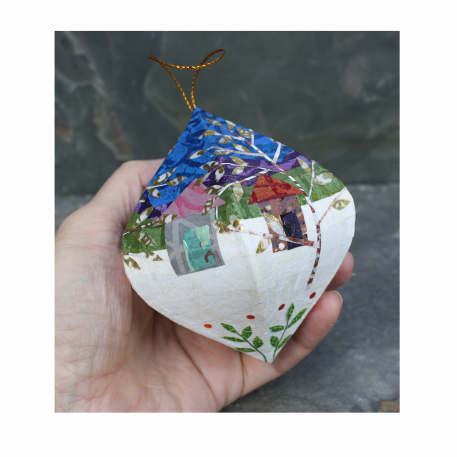 Trees and Cabins Layered Paper Ornament.jpg