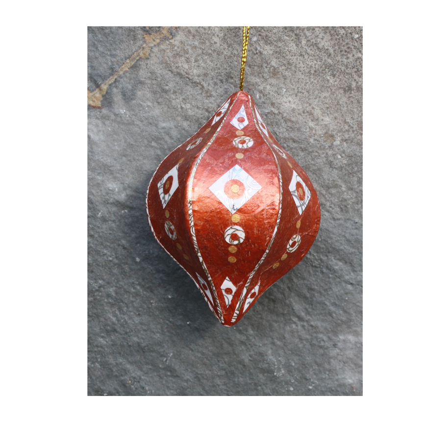Copper, White and Gold Collaged Ornament.jpg