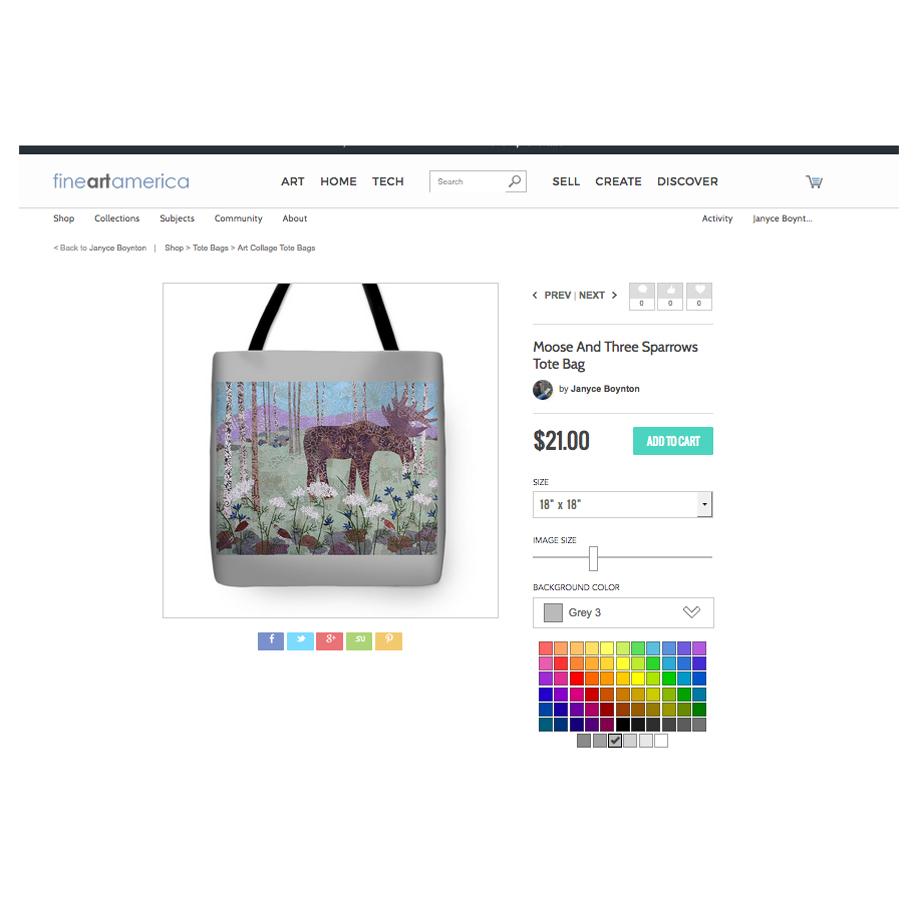 Moose and Three Sparrows Tote Bag.jpg