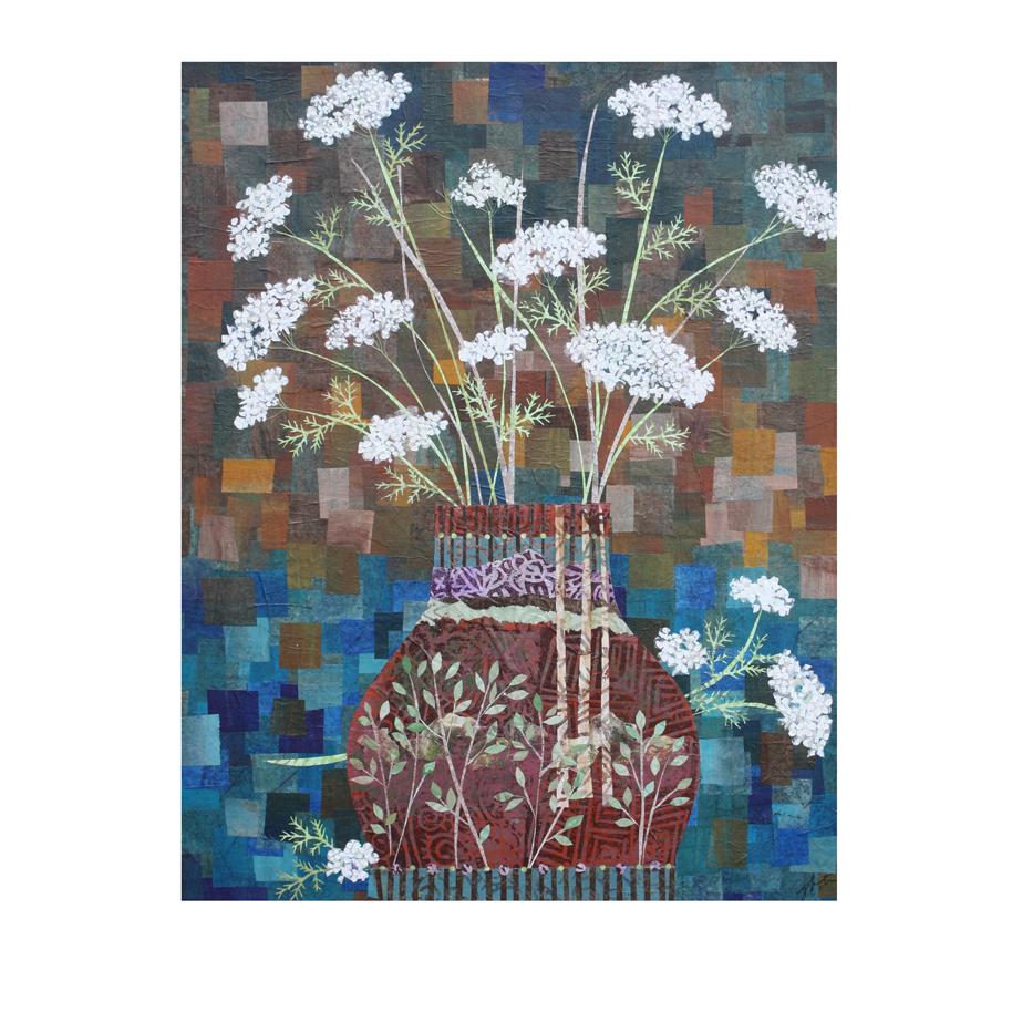 Queen Anne's Lace in Vase with Birches.jpg