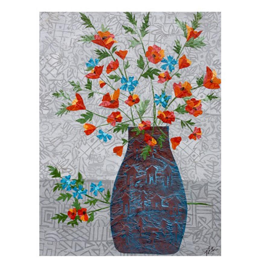 Poppies in Turquoise Vase.jpg