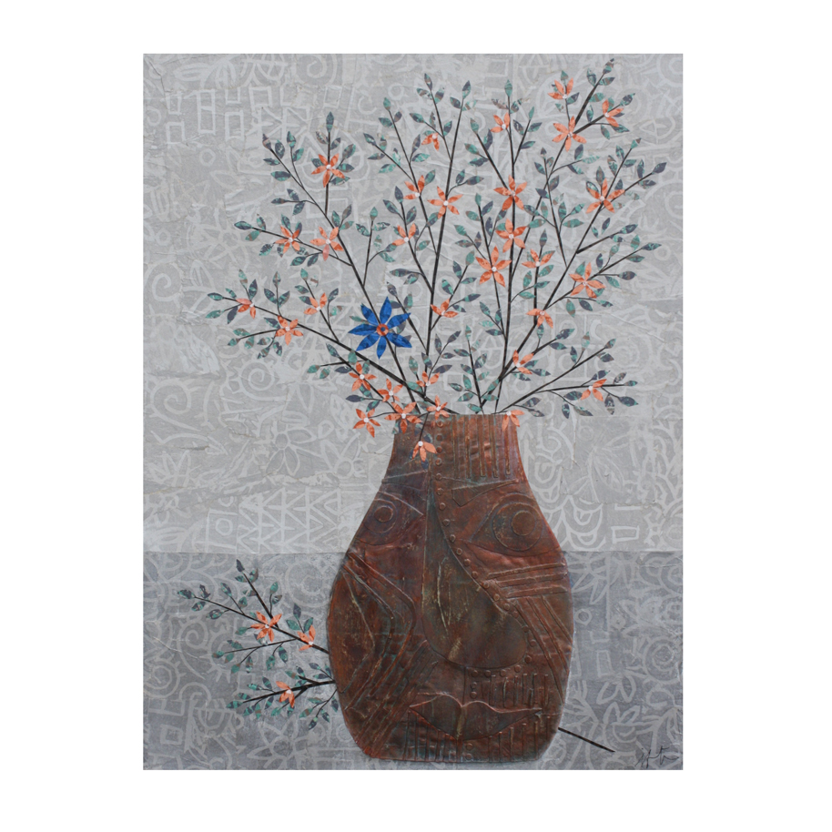 Blue Flower Layered Paper Collage.jpg