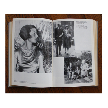 On the left, Agar (1927) Photographed by Cecil Beaton. On the right (top) Sinclair Lewis and Dorothy Thompson (1928); (bottom) Joseph Bard, Agar, and her godmother, Mita Sewell (1929).