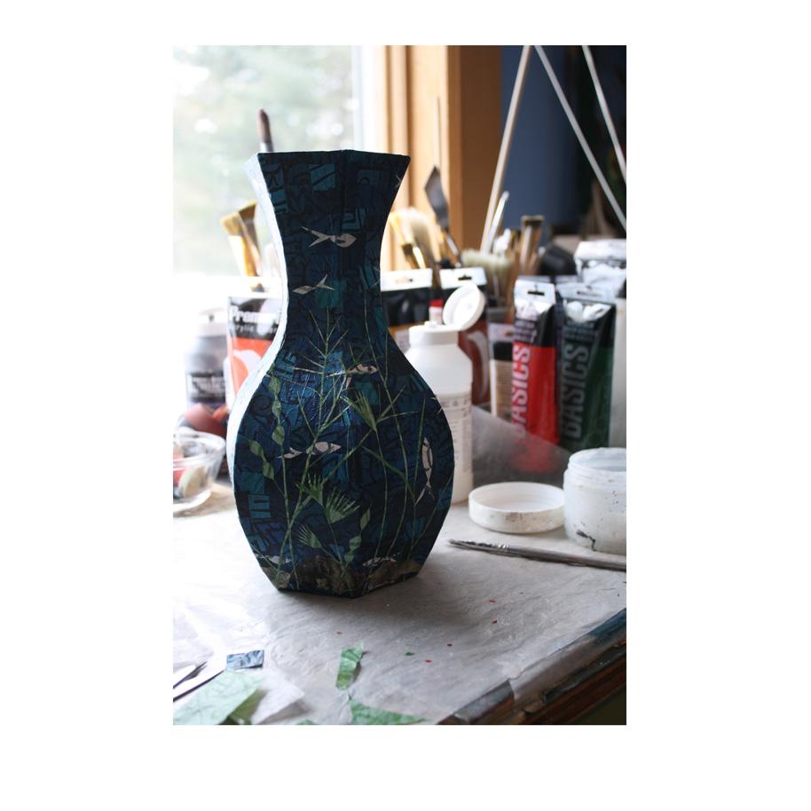 Collage and papier mache vase work in progress pinecone sparrow collage and papier mache vase work in progress reviewsmspy