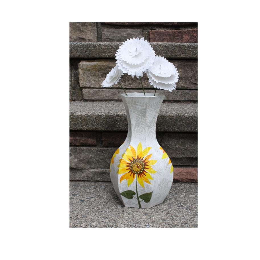 Sunflower Vase with White Flowers.jpg