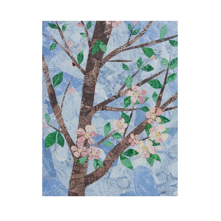 Apple Blossoms Collage Art.jpg