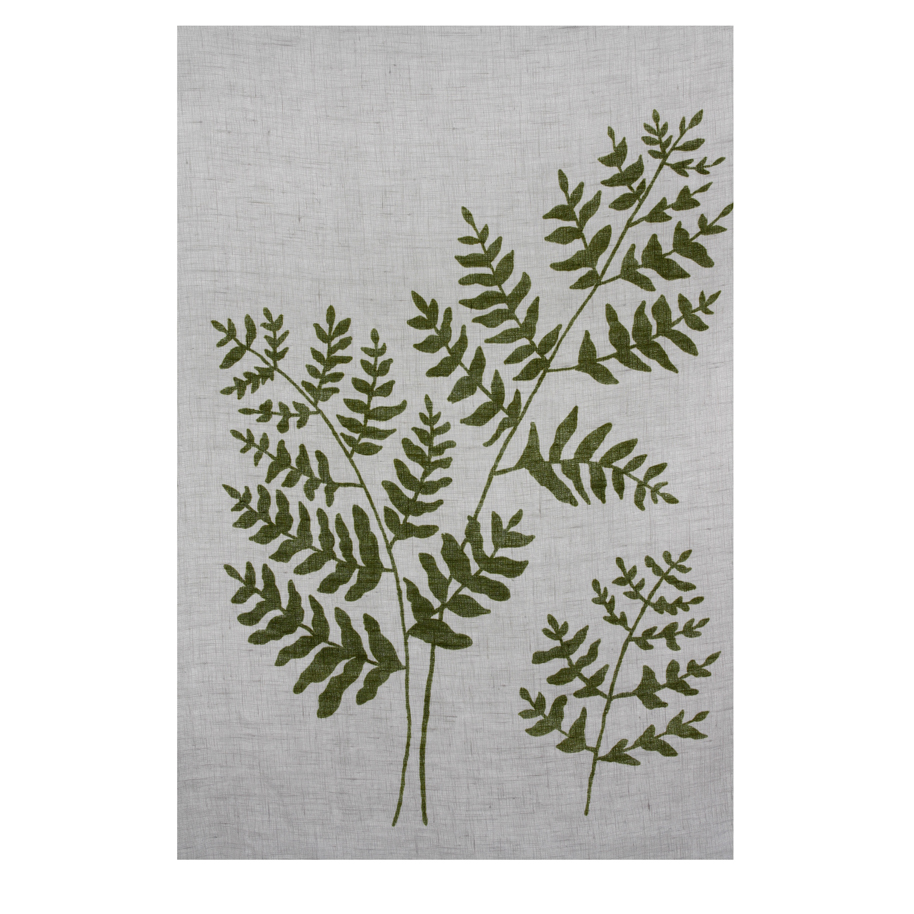 Ferns (2010) - screen-printed fern on linen.