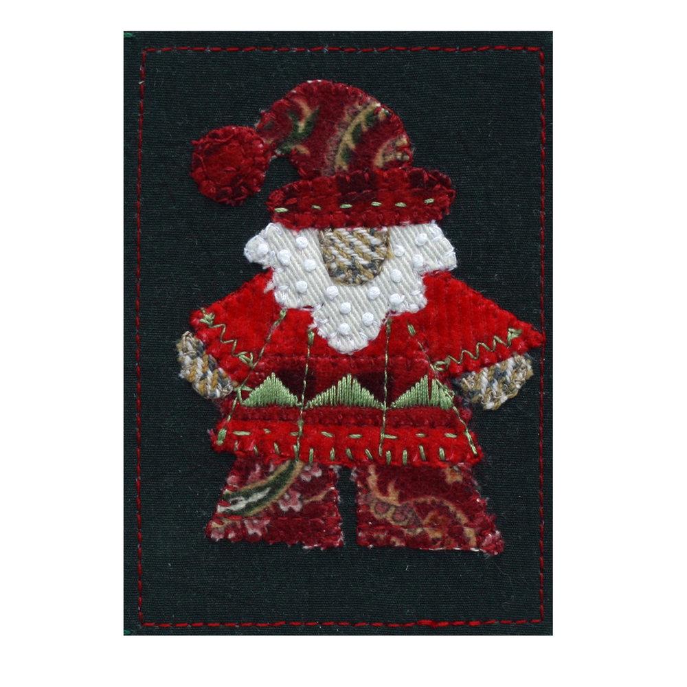 "Stylized Santa. 2.5"" x 3.5"" with 5"" x 7"" mat. eBay listing  here ."