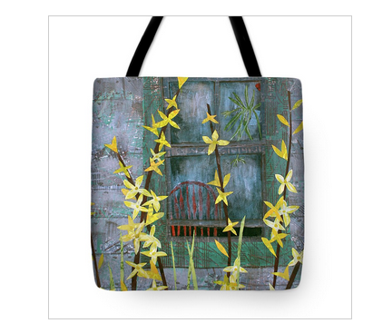 Forsythia Tote Bag available  here .