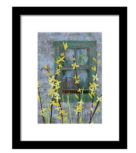 Forsythia Framed Print available  here .