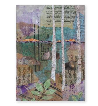 Birches at Sunset Greeting Card.jpg