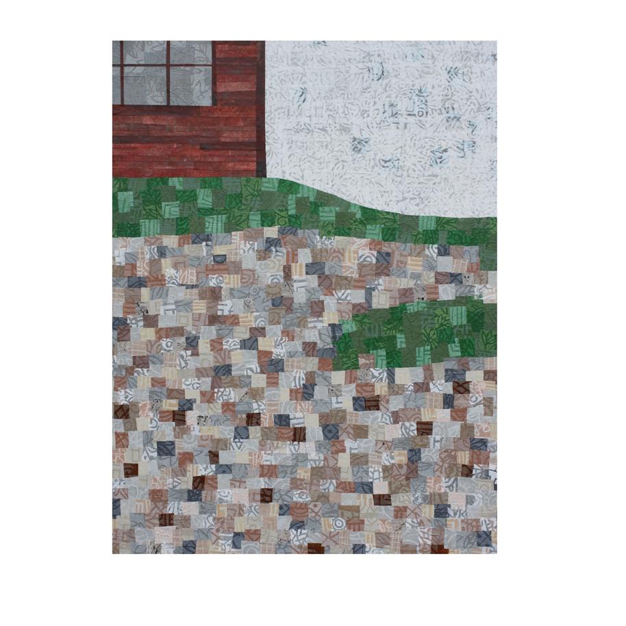 "Background layer - 18"" x 24"" canvas, Collage work in progress."