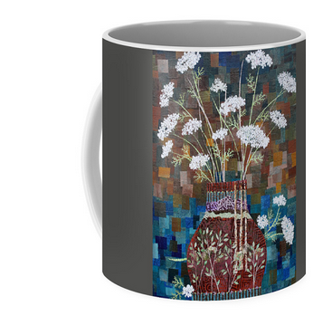 Queen Anne's Lace in Vase with Birches Mug. Available  here .