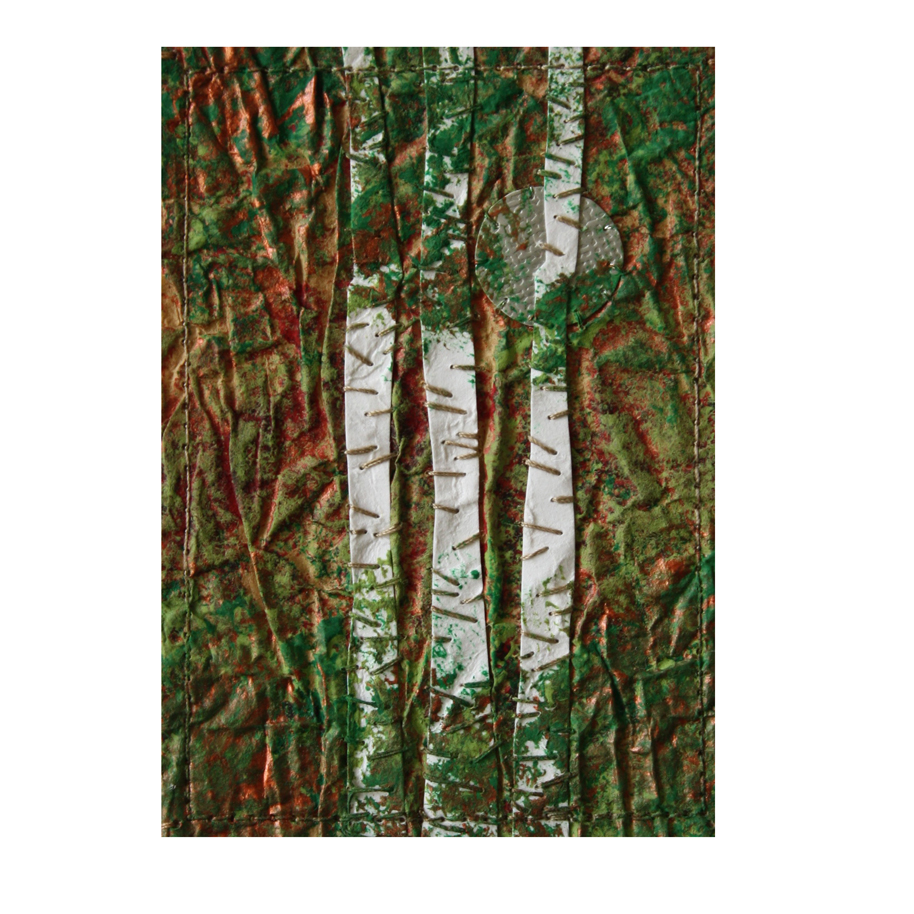 Birches and Silver Moon Stitched Paper Collage.jpg