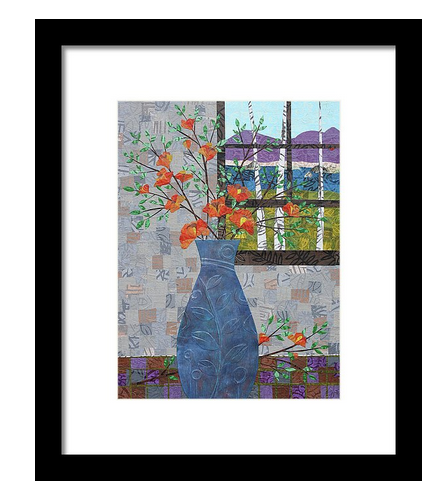 Orange Blooms Framed Print. Available here.