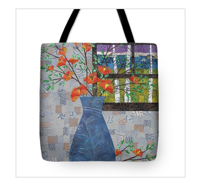 Orange Blooms Tote Bag. Available here.