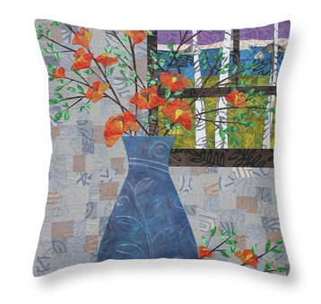 Orange Blooms Pillow. Available here.