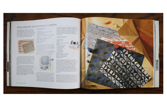 Block Printing with Found Objects illustrations and photographs in The Art and Craft of Paper by Faith Shannon.