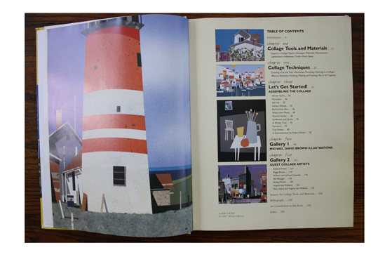 Left: Land's End by Michael David Brown; Right: Table of Contents in Realistic Collage: Step by Step.