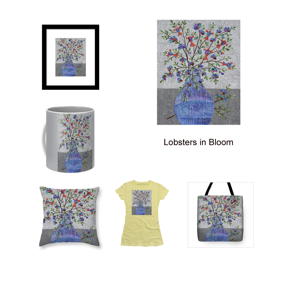 Lobsters in Bloom printed products available through  my shop at Pixels.com .