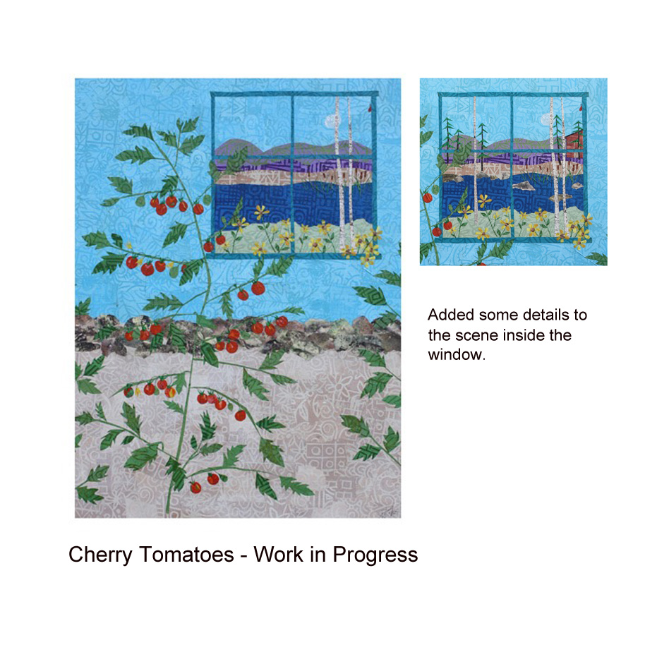 Cherry Tomtatoes collage work in progress