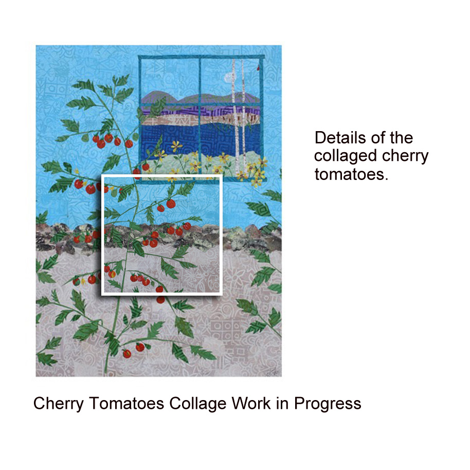 Cherry Tomatoes Collage Work in Progress