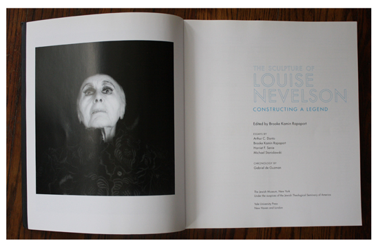 Left: Louise Nevelson 1986 by Robert Mapplethorpe in The Sculpture of Louise Nevelson: Constructing a Legend