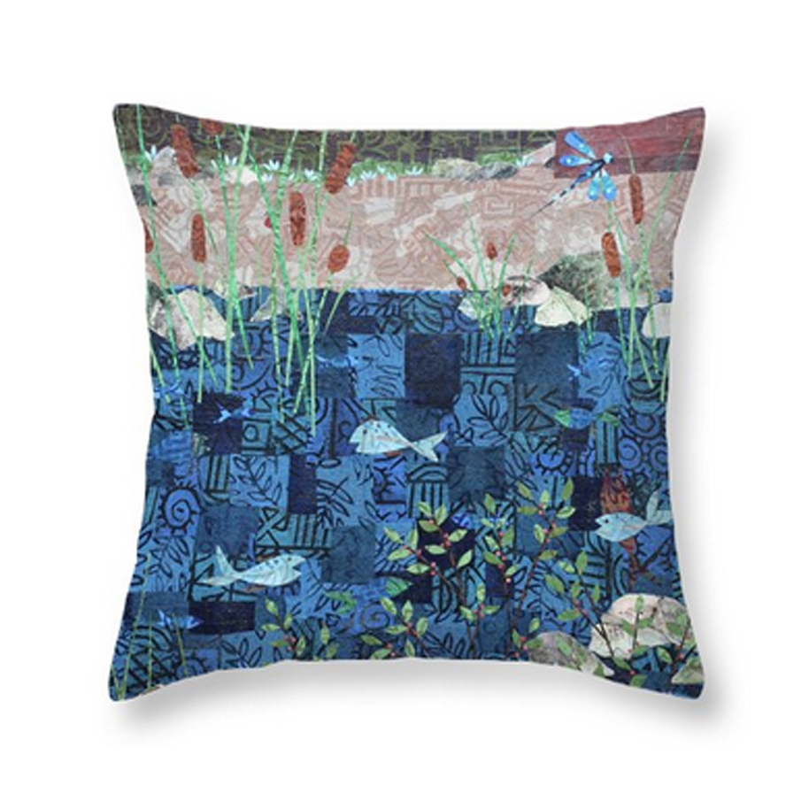 Fish and Dragonfly Pillow.jpg