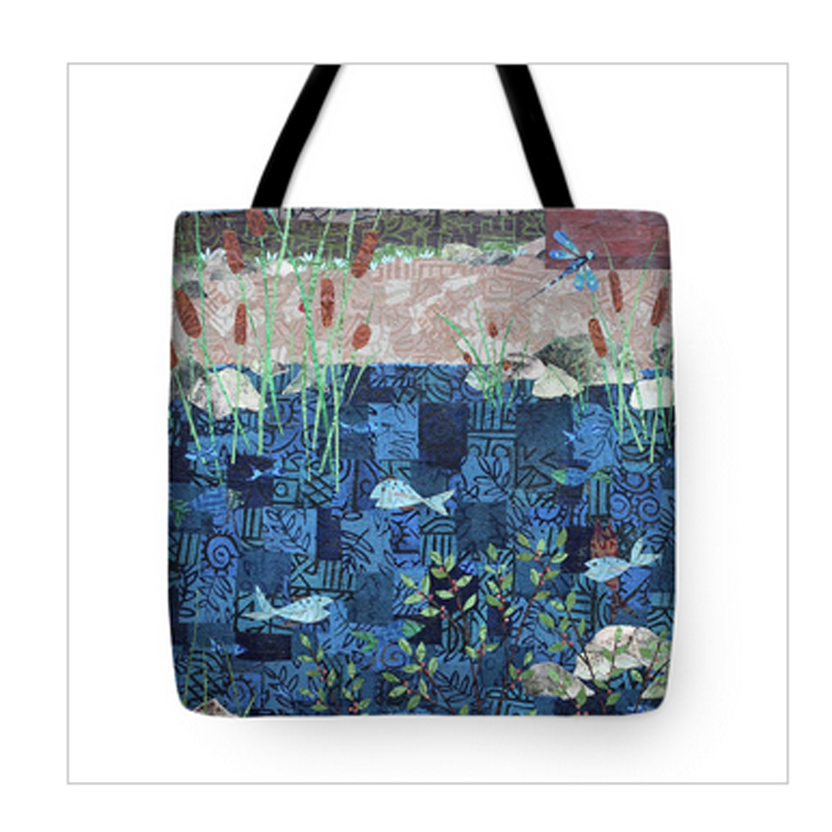 Fish and Dragonfly Tote Bag.jpg