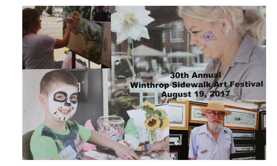 Winthrop Sidewalk Art Festival Postcard